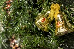 圣诞节的门铃装饰 库存照片