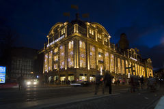 圣诞节的阿姆斯特丹 免版税库存图片