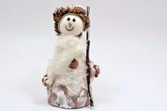圣诞节的雪人在白色背景 免版税库存照片