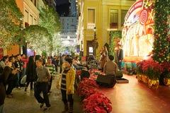 圣诞节的香港 图库摄影