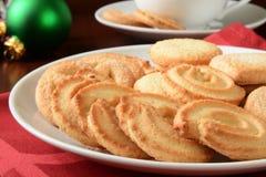 圣诞节的黄油曲奇饼 免版税库存照片