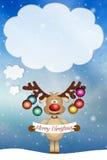 圣诞节的滑稽的驯鹿 免版税库存照片