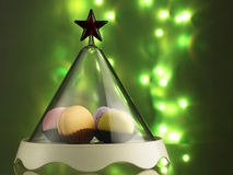 圣诞节的Macaron 库存图片