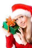 圣诞节相当女孩存在 库存图片