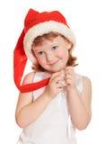 圣诞节相当女孩纵向 库存照片