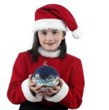 圣诞节相当给女孩穿衣 库存照片
