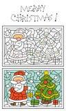 圣诞节着色页 免版税库存照片