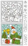 圣诞节着色页 库存图片