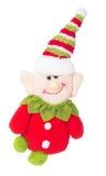 圣诞节矮子地精拖钓装饰 免版税库存图片