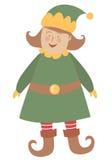 圣诞节矮子女孩 免版税库存图片
