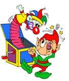 圣诞节矮子& Jack In The Box 库存照片