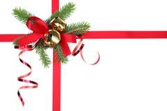 圣诞节礼品丝带 免版税库存照片