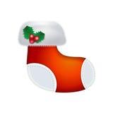 圣诞节礼品例证红色袜子向量白色 库存图片
