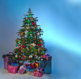 圣诞节礼品例证结构树向量 免版税库存图片