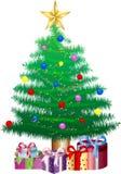 圣诞节礼品例证结构树向量 免版税库存照片