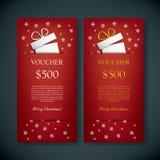 圣诞节礼品券证件模板与 图库摄影