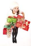 圣诞节礼品喜悦购物 免版税库存图片