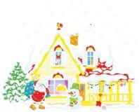 圣诞节礼品圣诞老人 向量例证