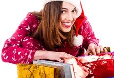 圣诞节礼品夫人空缺数目 免版税库存照片