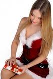圣诞节礼品女孩 库存图片