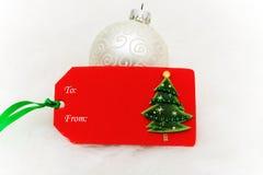 圣诞节礼品标签 库存图片