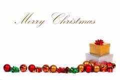 圣诞节礼品空间文本 免版税库存照片