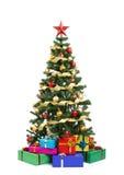 圣诞节礼品结构树 免版税图库摄影