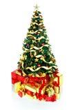 圣诞节礼品结构树 免版税库存照片