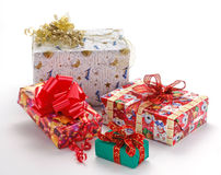 圣诞节礼品装箱 免版税库存图片