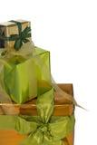 圣诞节礼品边界 免版税库存照片