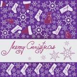圣诞节礼品隔离白色 设计一副欢乐横幅, 库存图片
