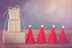 圣诞节礼品隔离白色 库存图片