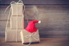 圣诞节礼品隔离白色 图库摄影