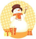 圣诞节礼品雪人 免版税库存图片