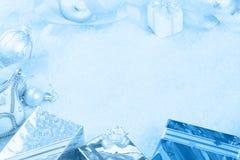 圣诞节礼品雪 免版税图库摄影