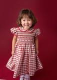圣诞节礼服的,成套装备女孩 假日时尚 免版税图库摄影