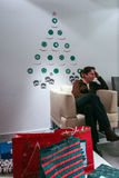 圣诞节礼物交换 图库摄影