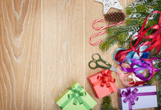圣诞节礼物包裹 免版税库存照片