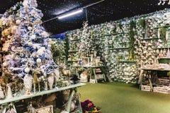 圣诞节礼物和装饰 免版税库存照片