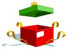 圣诞节礼物和雪人 库存例证