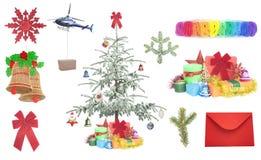 圣诞节礼物和项目 免版税库存图片
