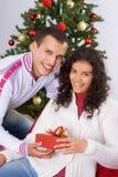 圣诞节礼物接受 库存照片