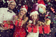 圣诞节礼物时间 免版税图库摄影