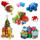圣诞节礼物汇集 免版税图库摄影