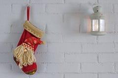 圣诞节礼物的红色袜子 免版税库存照片
