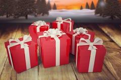 圣诞节礼物的综合图象 库存照片