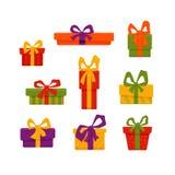 圣诞节礼物盒例证 图库摄影