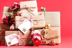 圣诞节礼物箱子的汇集 免版税库存图片