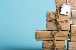 圣诞节礼物箱子的汇集 免版税库存照片