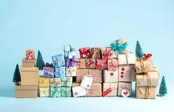 圣诞节礼物箱子的汇集 库存图片
